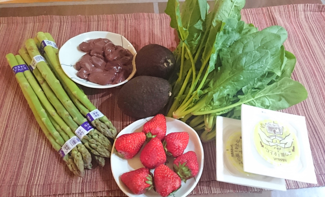 葉酸含有量の多い食べ物