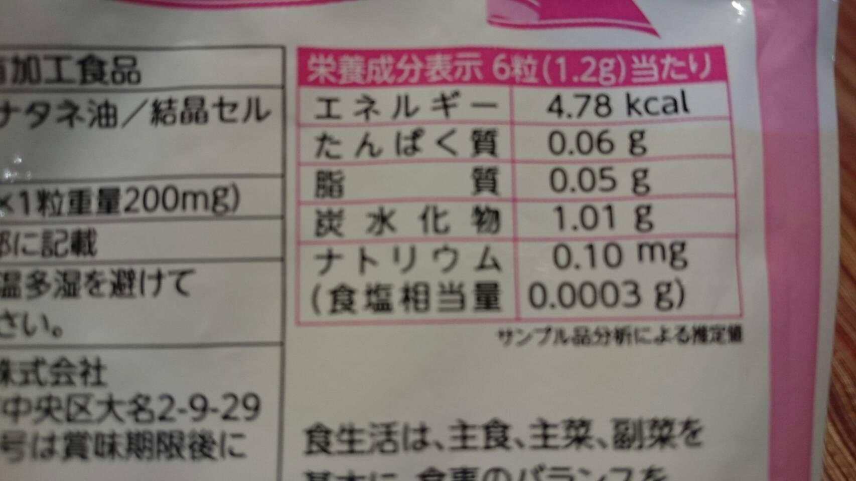 葉酸toマカサプリの栄養成分